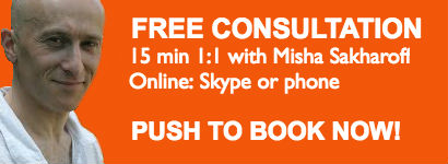 Book your free 15-min online consultation with Misha Sakharoff